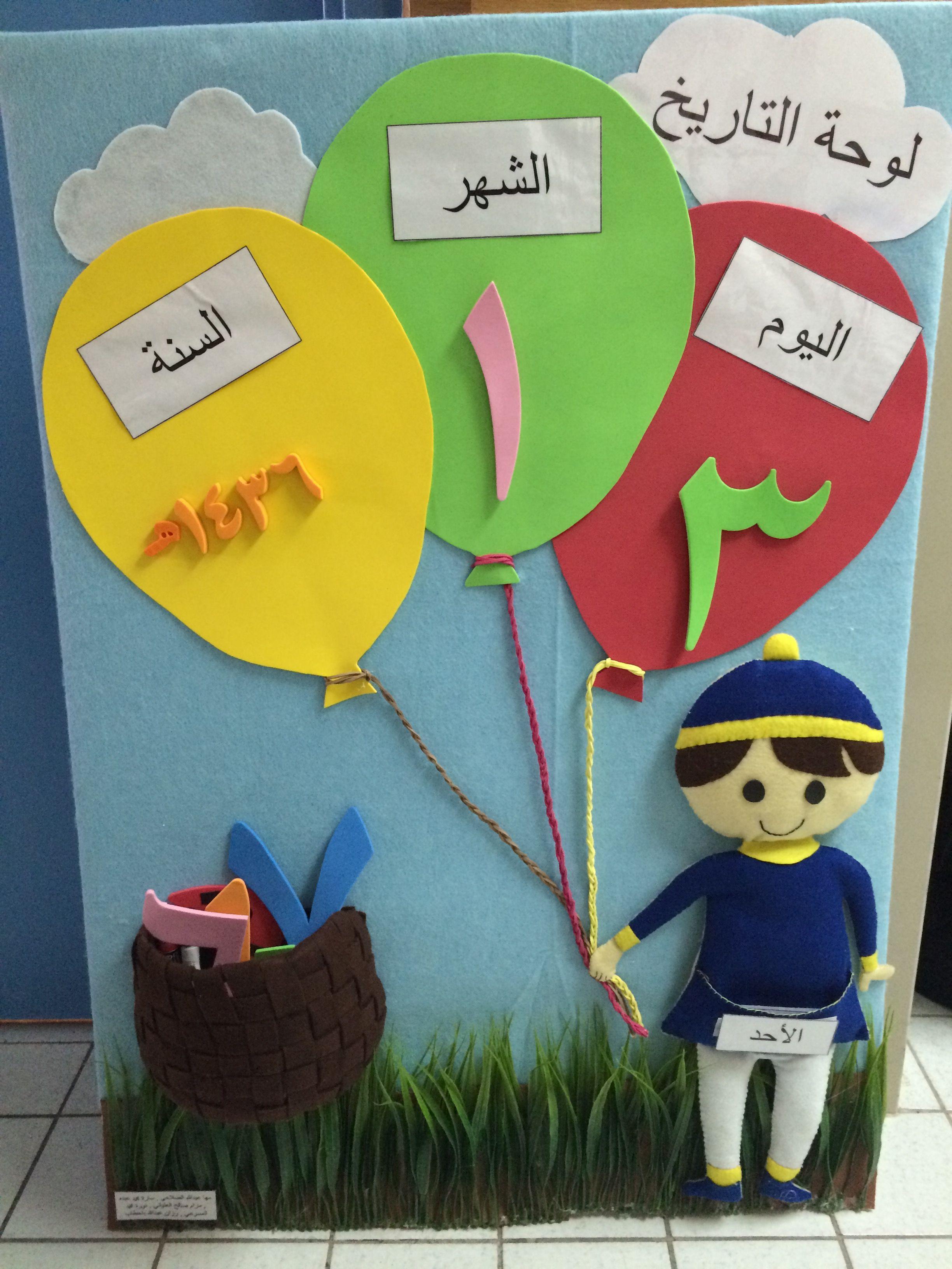 نوع اللوحة لوحة توضح تاريخ و أسم اليوم و الشهر و السنة الهجرية اسم اللوحة الإشارة لوح Islamic Kids Activities Art Display Kids Arabic Alphabet For Kids