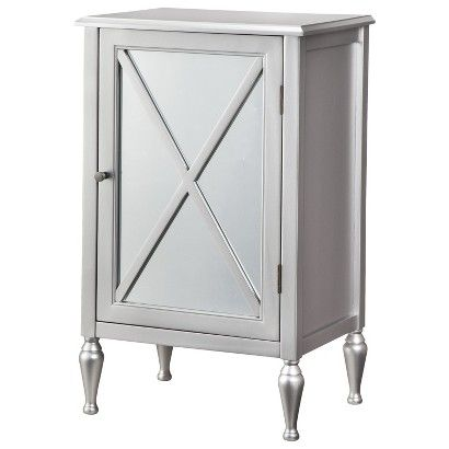 Hollywood Mirrored One Door Accent Cabinet Accent Doors Hollywood Mirror Mirrored Furniture