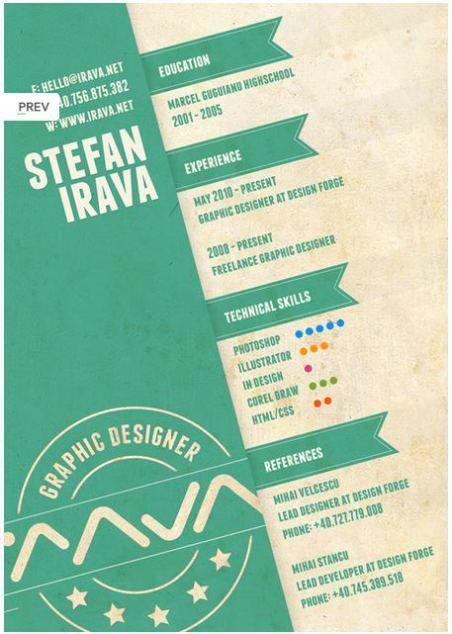 設計師的創意個人履歷賞 履歷 Pinterest Resume, Creative and - freelance graphic design resume