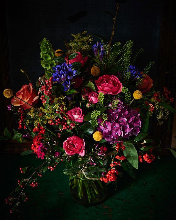 Black And Purple Wedding Bouquet