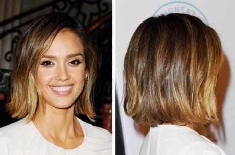 Jessica Alba 2015 Bob Short Hair Coiffure Coupe Coiffure Cheveux Courts