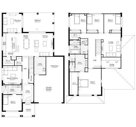 Hampton 45 Better Built Homes Double Storey House Plans Modern House Plans House Blueprints