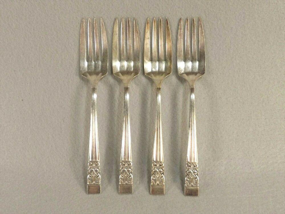 "Oneida COMMUNITY CORONATION silverplate 2 Salad Forks 6 1//4/"""