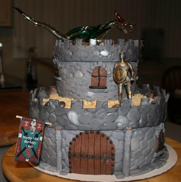 Fine Medieval Castle Castle Birthday Cakes Castle Crafts Wilton Funny Birthday Cards Online Overcheapnameinfo