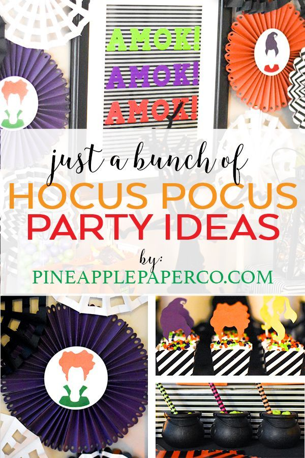 Hocus Pocus Party Ideas - Hocus Pocus Decor Halloween party ideas