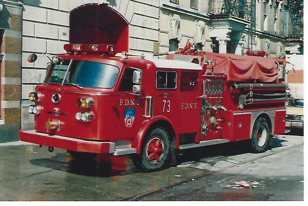 NEW YORK CITY FIRE DEPT ENGINE COMPANY 73 4X6 COLOR PHOTO ~ 1982 ALF