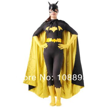 black batman costume adult women halloween costumes for women sexy batgirl superhero cosplay bodysuit zentai mask cape custom  sc 1 st  Pinterest & black batman costume adult women halloween costumes for women sexy ...