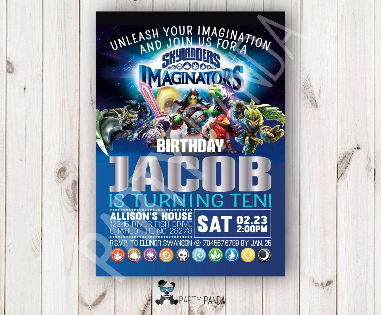 Skylanders Imaginators Birthday Invitation Skylanders Imaginators