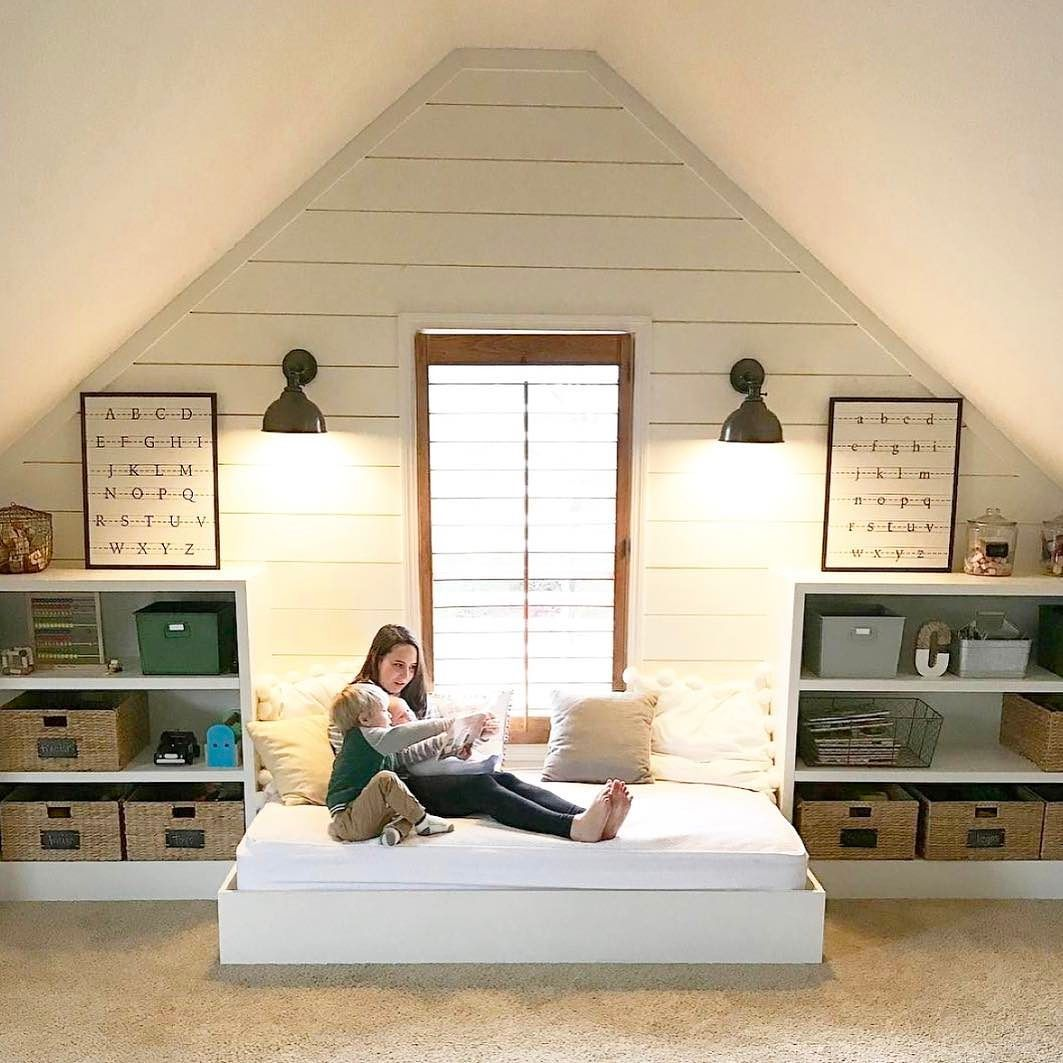 Master bedroom nook  Can we get a shout out for sibling love We absolutely love this