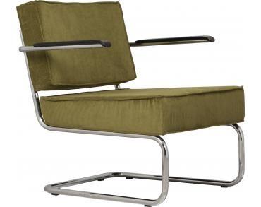 Rib Stoel Groen : Lounge stoel ridge rib groen met arm zuiver tiber
