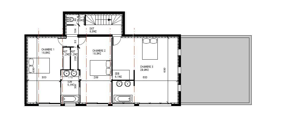 Plan maison moderne 2 etage 1 plans pinterest for Maison moderne 94