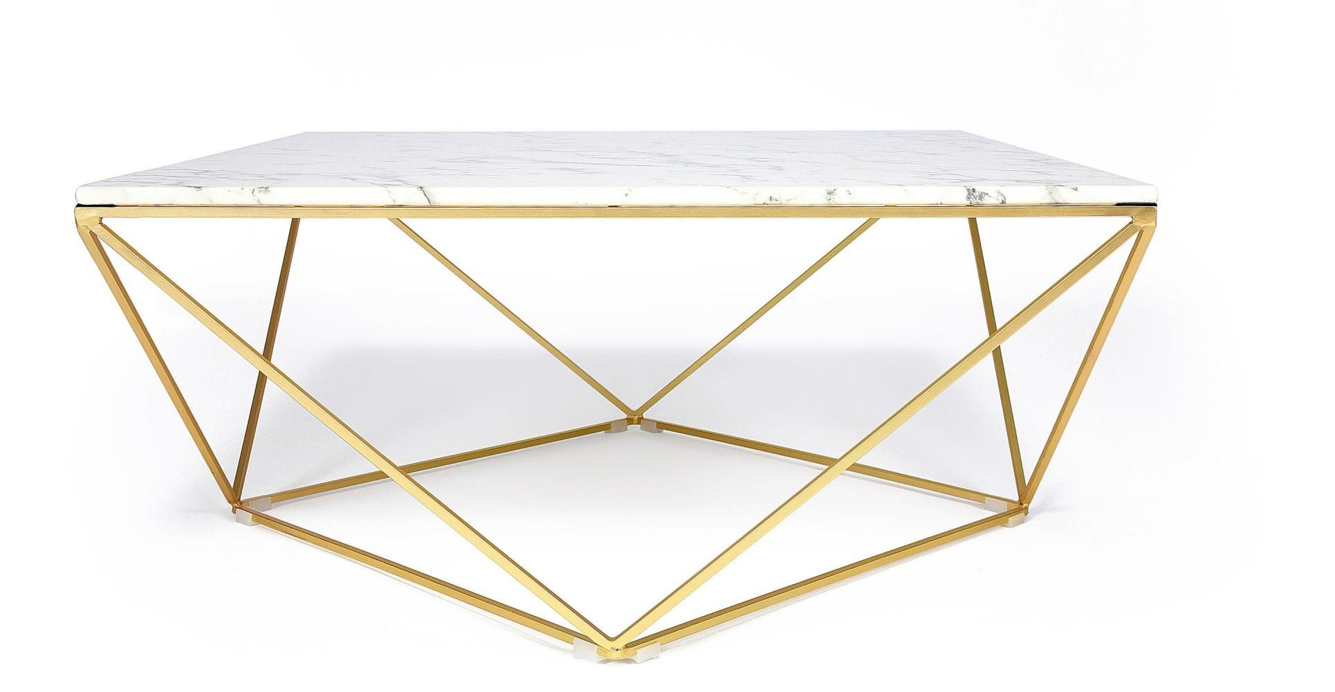 Table Basse Design Facon Marbre Blanc Avec Pietement En Fer Table Basse Marbre Table Basse Table Basse Marbre Blanc