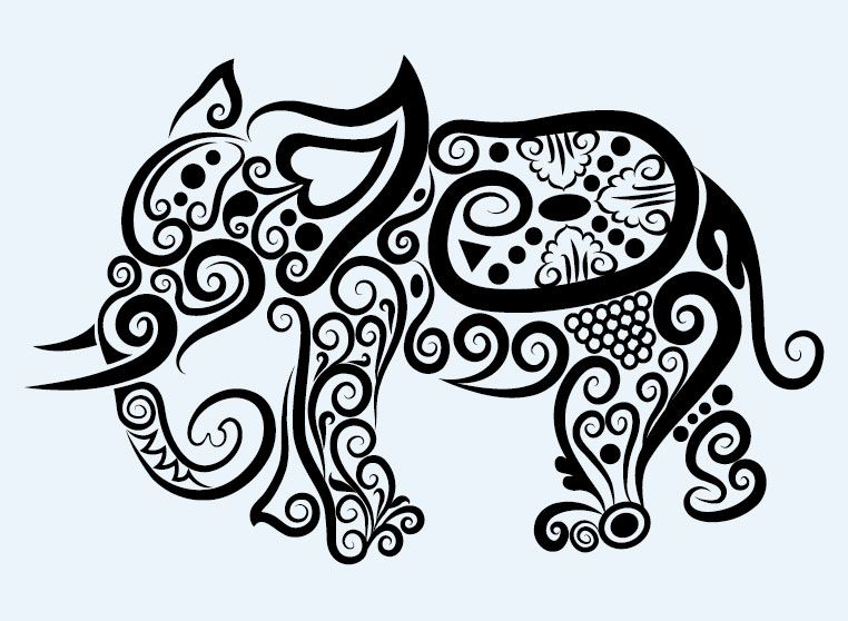 Line Art Vector Design : Free vector about line drawing animal ee tattoo graphics