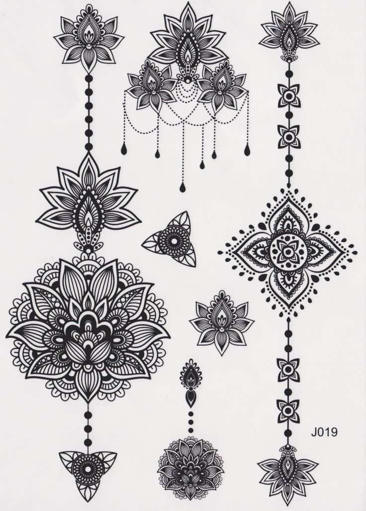 Aiyana Tribal Lotus Mandala Temporary Tattoo Inkage 3 Pinterest