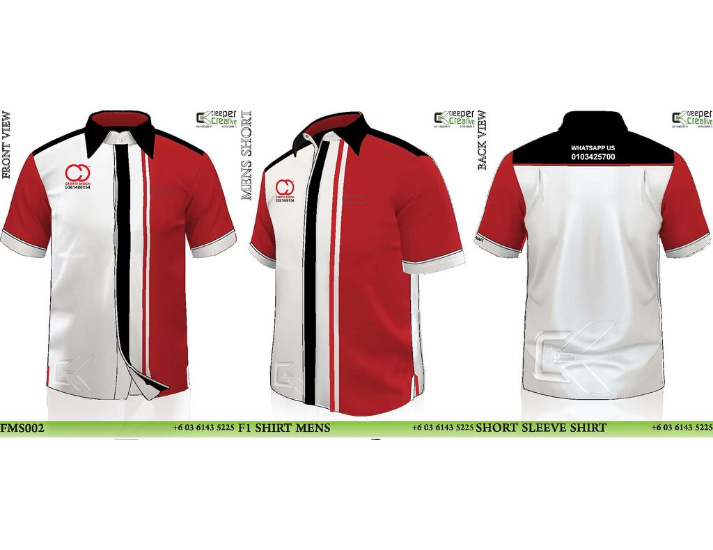 Shirt Corporate Shirts Corporate Uniforms Red White Shirt