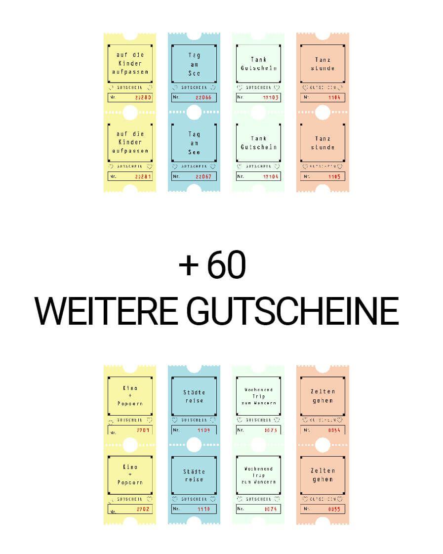 101 Gutscheine zum Sofort-Drucken - Lieblingsbrief