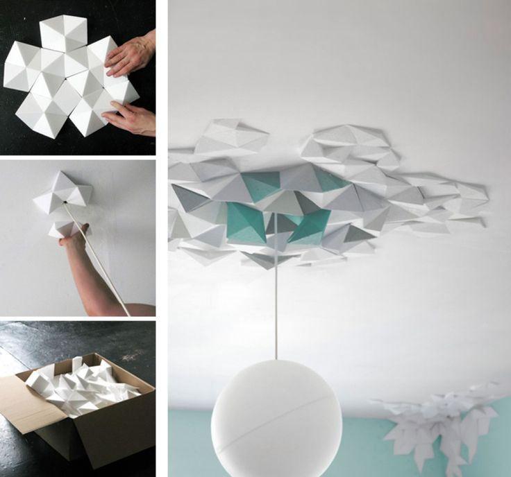 Applique rosace origami deco decoration tuto bricolage - Applique origami ...
