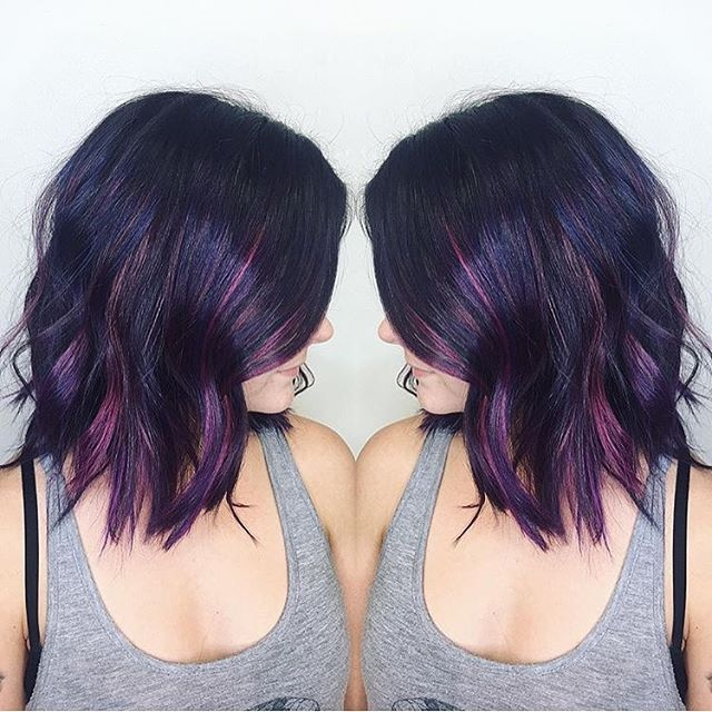 Bold Color by @hairbylindseypruitt  #hair #hairenvy #hairstyles #haircolor #purp…