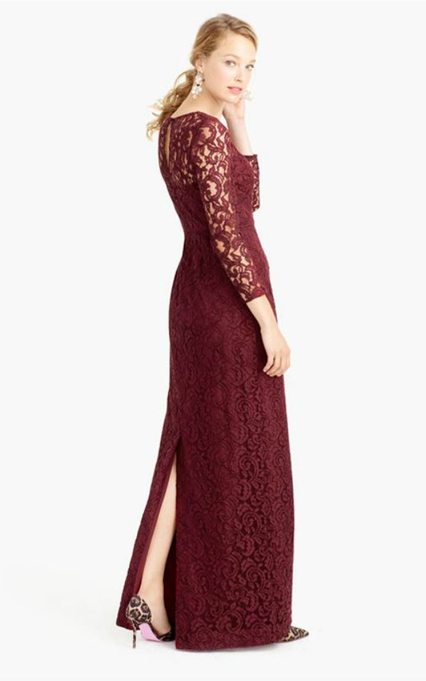 Long dresses for a winter wedding