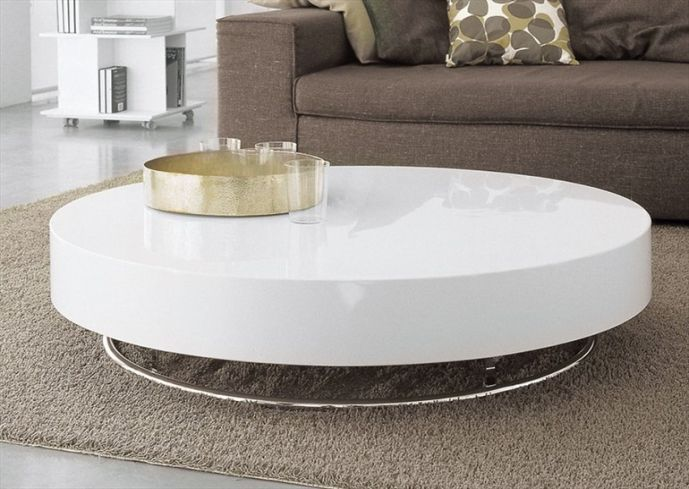 beautiful white round coffee table #coffeetabledesign modern