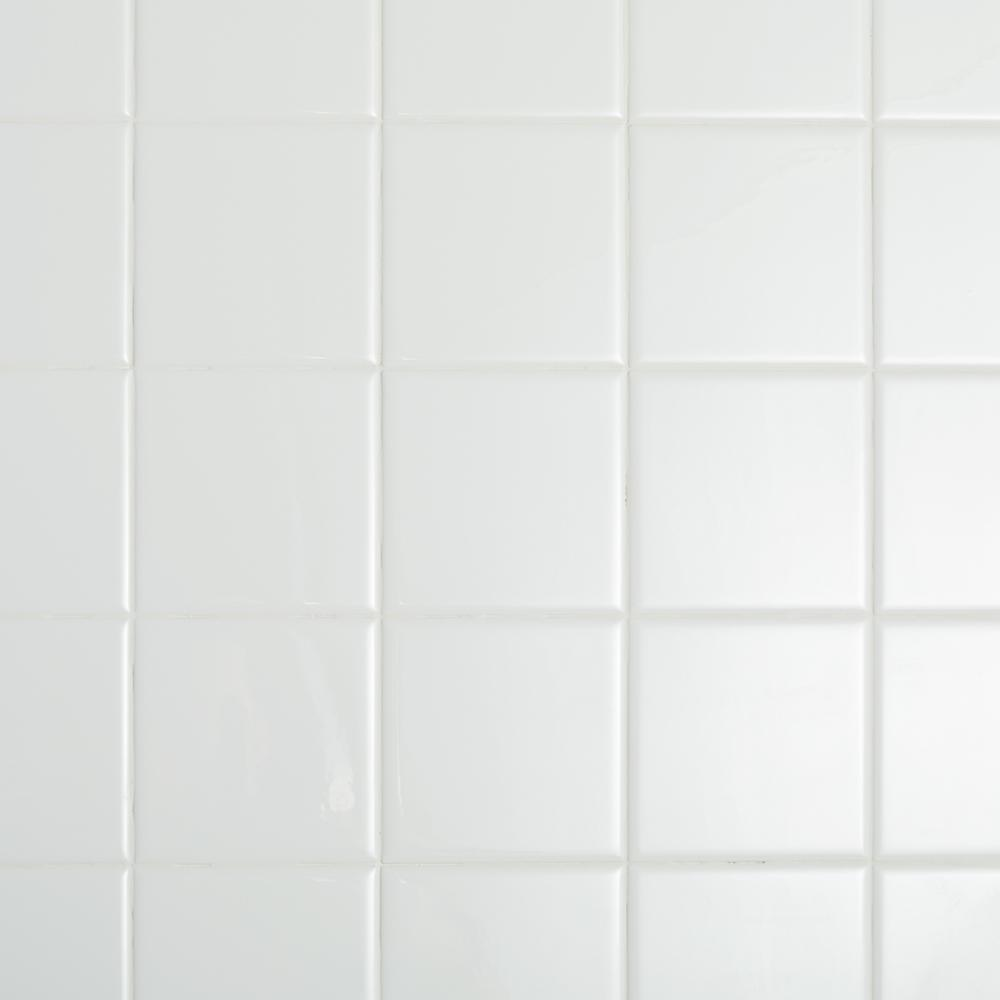 Daltile Restore Bright White 4 1 4 In X 4 1 4 In Ceramic Wall Tile 12 5 Sq Ft Case Re1544hd1p4 The Home Depot Ceramic Wall Tiles White Porcelain Tile Daltile