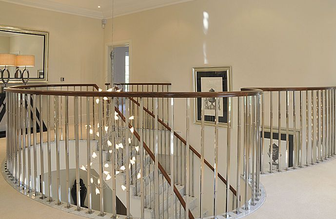 contemporary banisters | stainless steel handrail ...