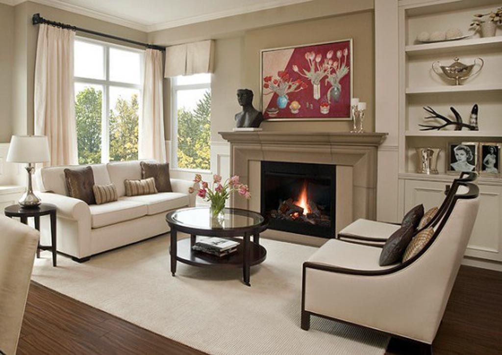 Traditional Living Room Furniture Placement how to decorate a living room with a fireplace | fireplace