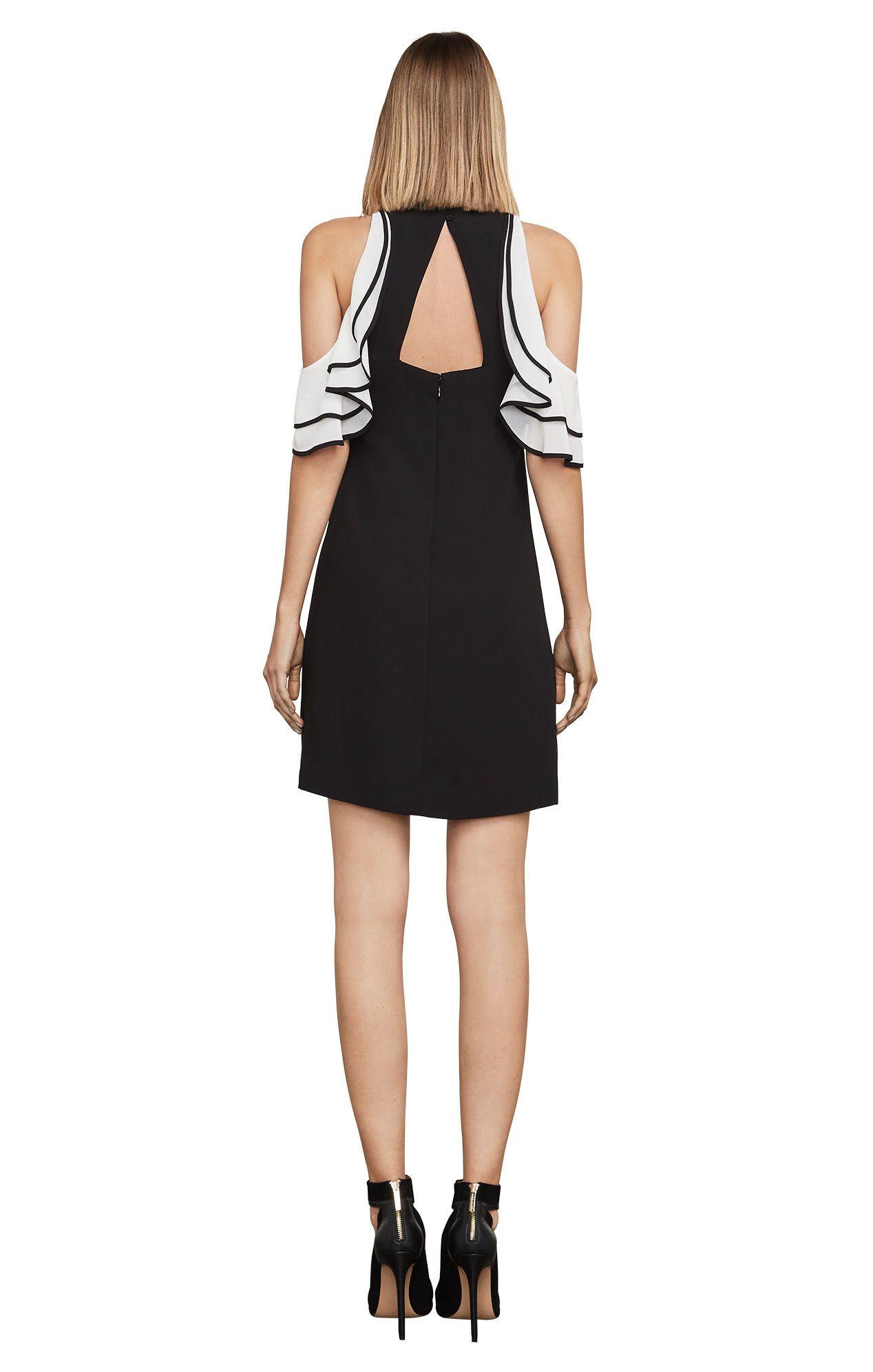 Norah coldshoulder shift dress black dresses pinterest
