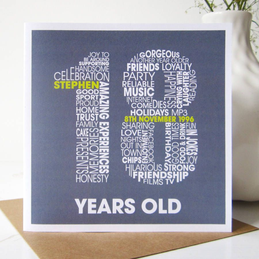 Personalised 18th Birthday Card – 18th Birthday Card Ideas