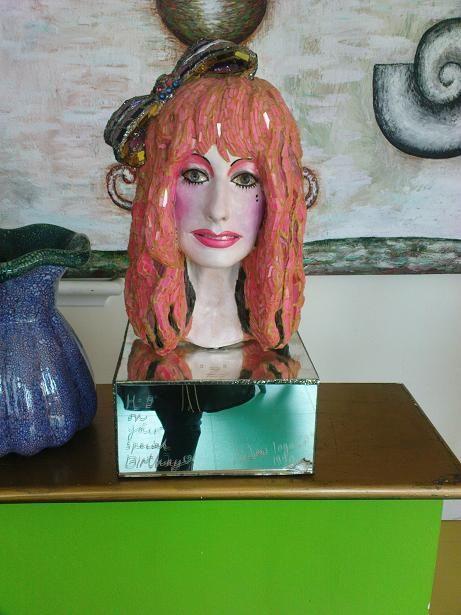 Zandra rhodes andrew logan sculpture