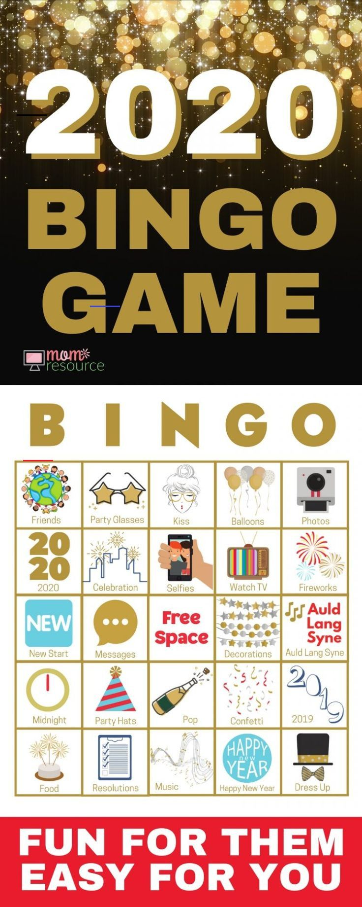 New Years Bingo 2020 Print & Play New Years Bingo 2020