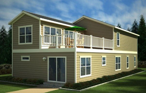 Two Story Mobile Homes Beach House Model Two Story Home Mobile Home Renovations Mobile Home Floor Plans Two Story Mobile Homes