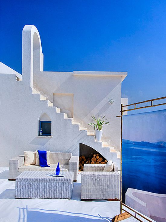 Santorini Patio Furniture: Greek Design, Pictures, Remodel, Decor And Ideas. Credit