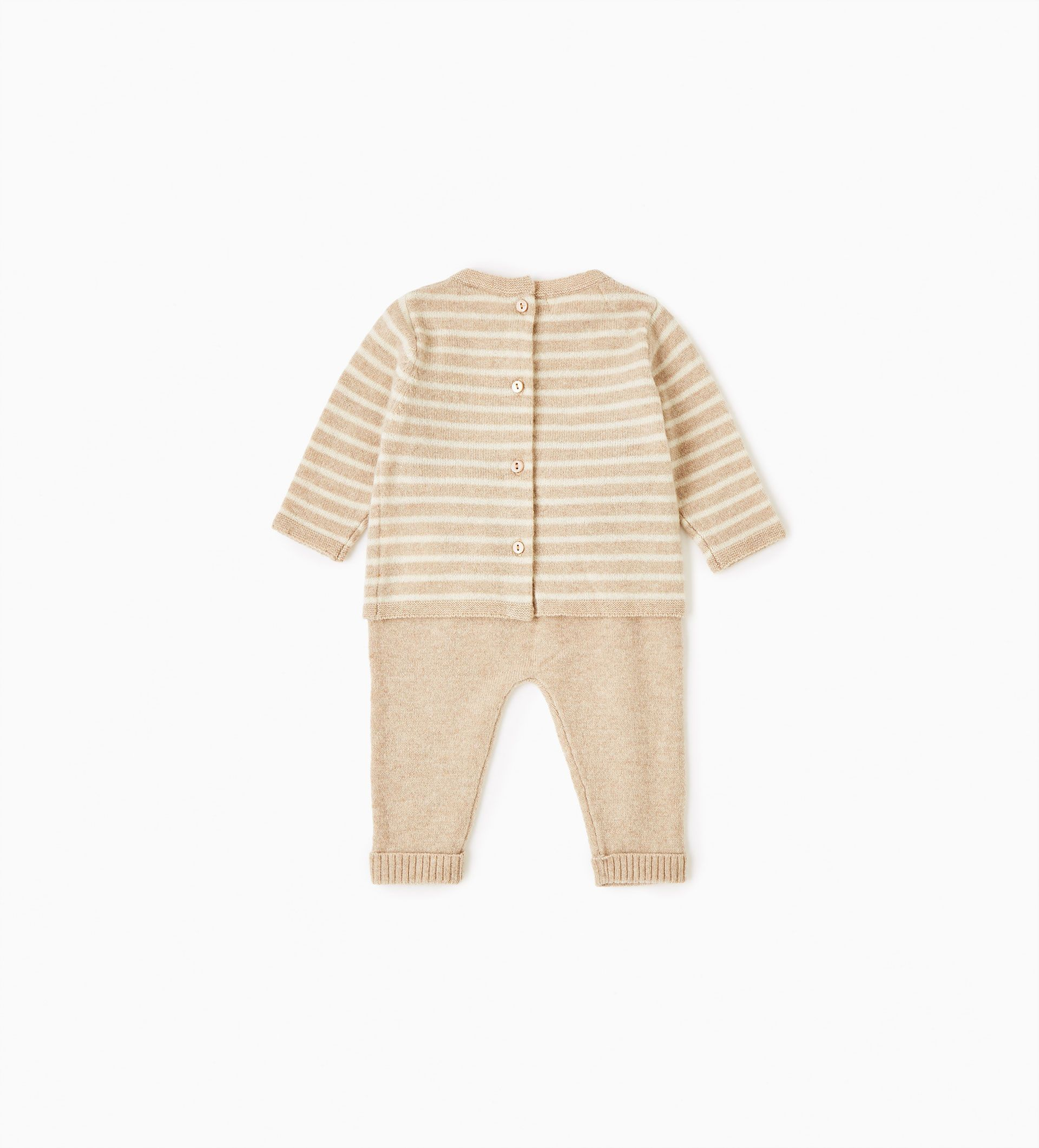 Striped cashmere set for baby 0 12 month clothes from Zara