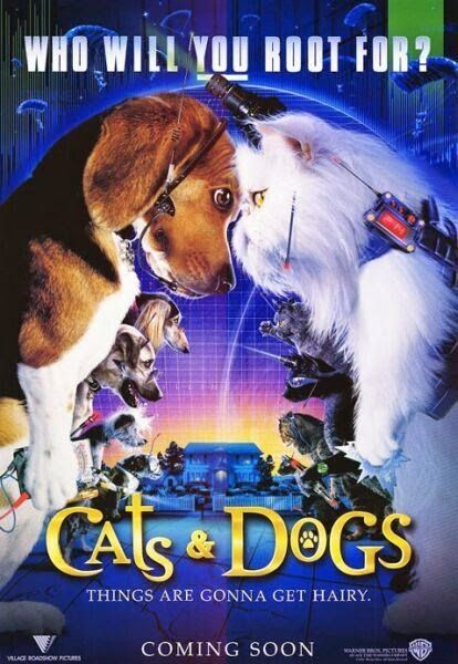 Cats Dogs 2001 Dual Audio Hindi Dubbed Movie Free Download Dog Movies Dog Films Cat Movie
