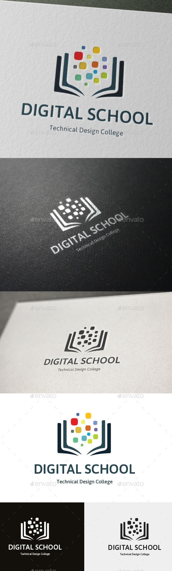 Technical Design College Logo Digital School Shape Simple O Click Here To Download