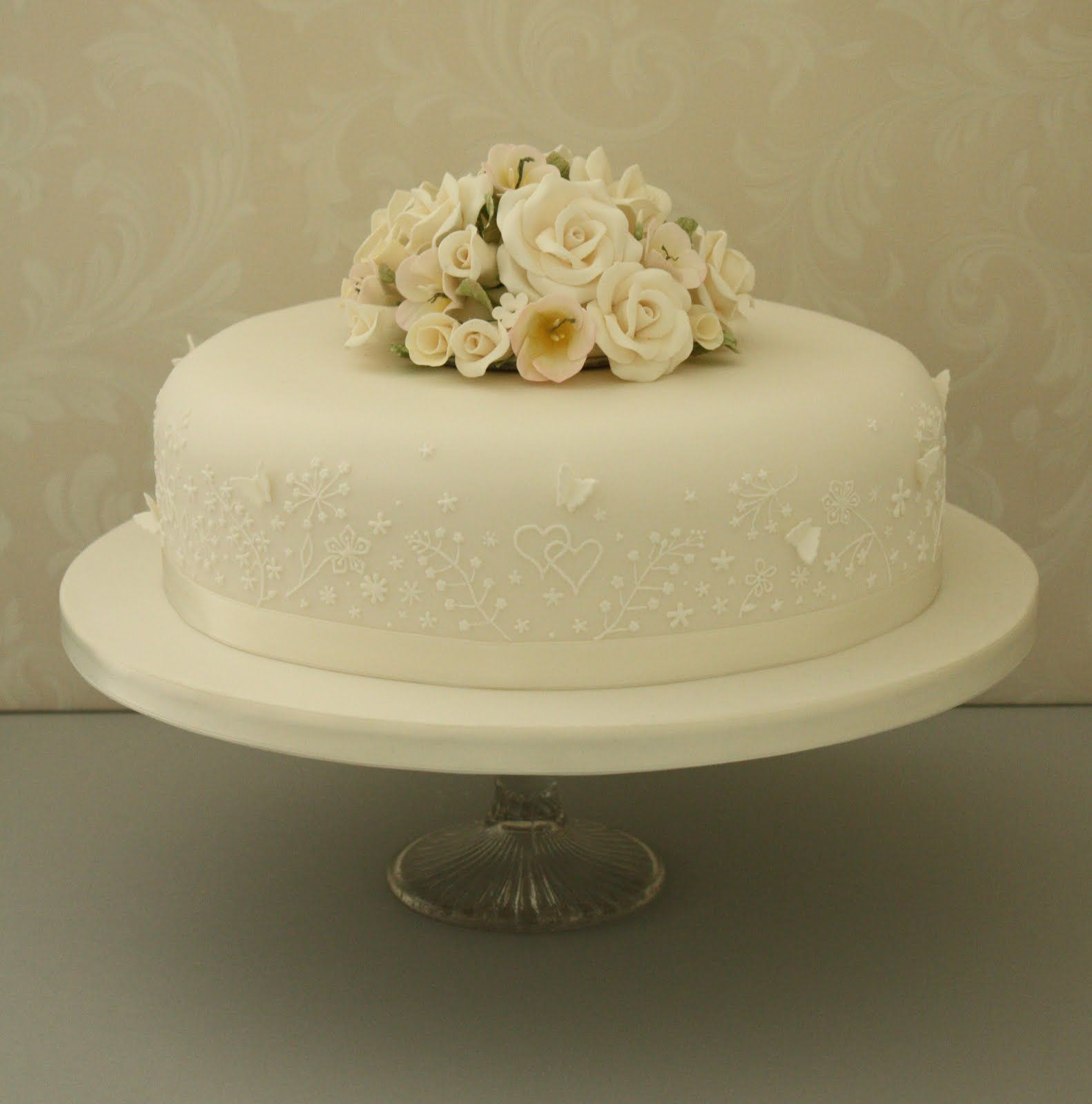 Elegant Single Tier Wedding Cakes Vintage Wedding Cake Designs Simple Tiered Wedding Cake