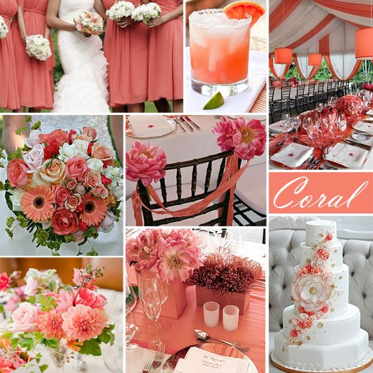Your Wedding Color Story U2013 Part 2. Coral Wedding ColorsCoral ...