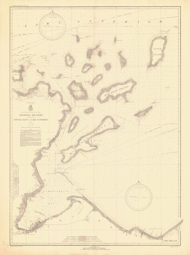 Apostle islands lake superior historical map 1935 pinterest a beautiful high quality print of the historical map of apostle islands lake superior from 1935 we take great care to ensure that the best materials freerunsca Choice Image