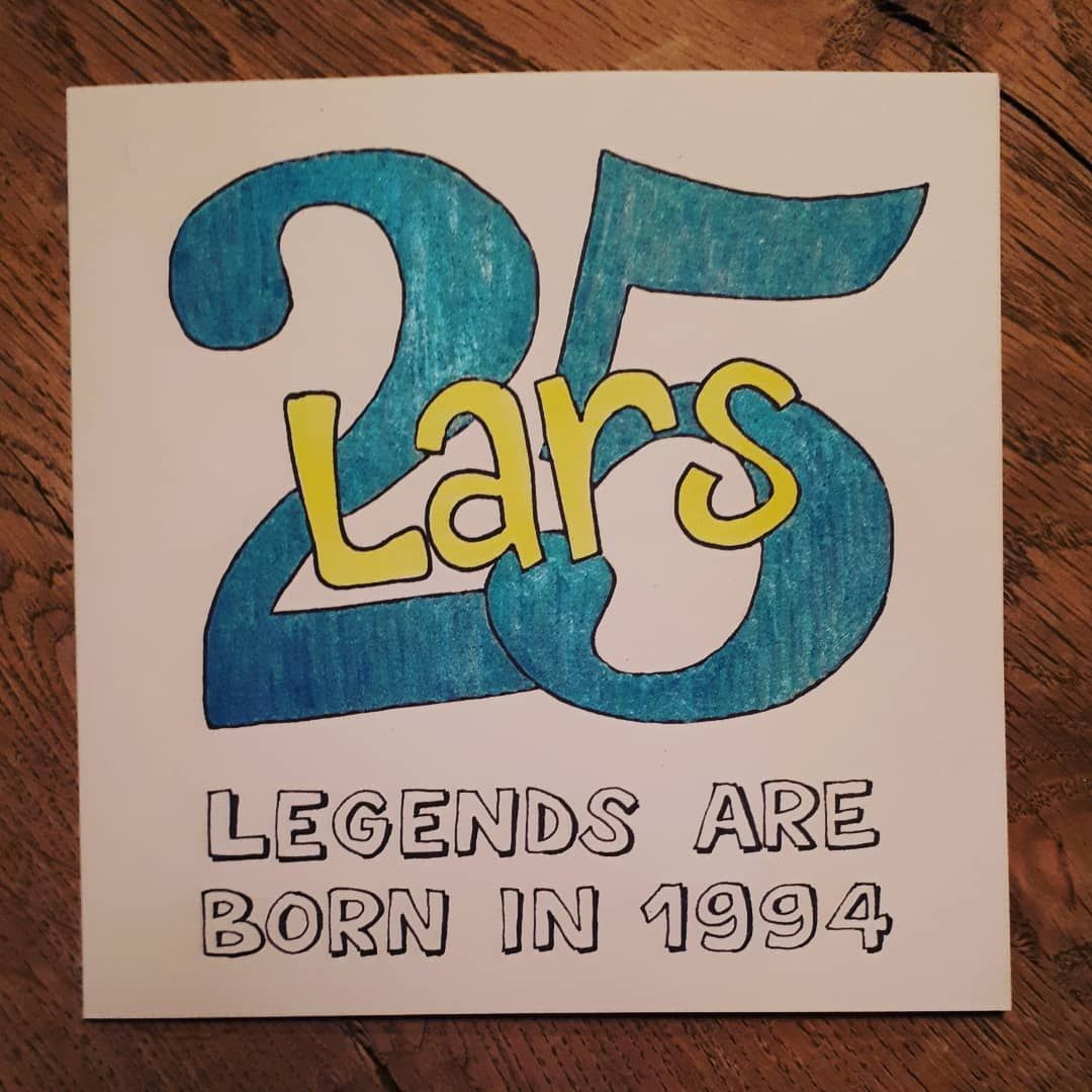 Uitgelezene Onze zoon vandaag 25 jaar, dat gaan we vieren CY-75