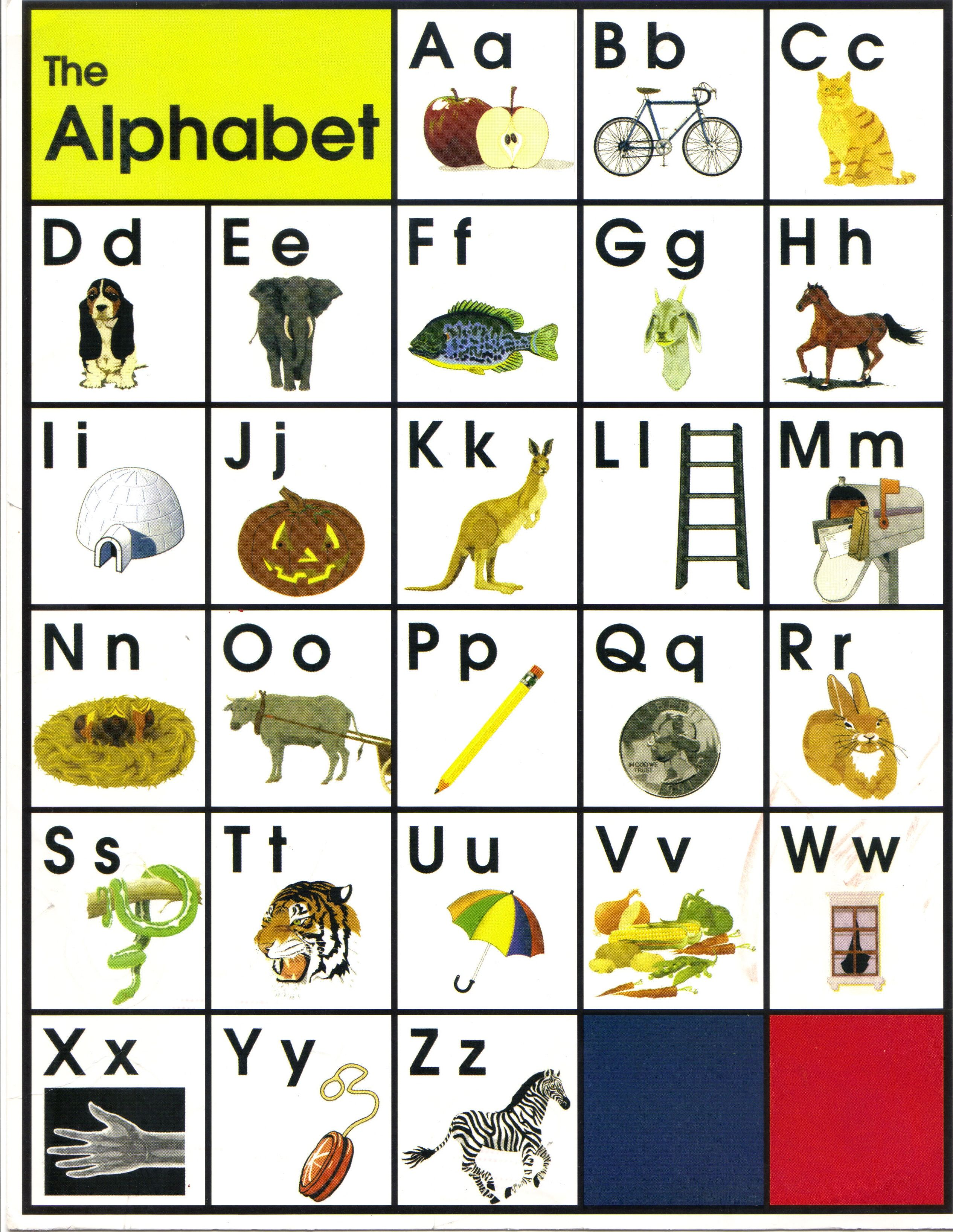 alphabet letters with pictures pdf