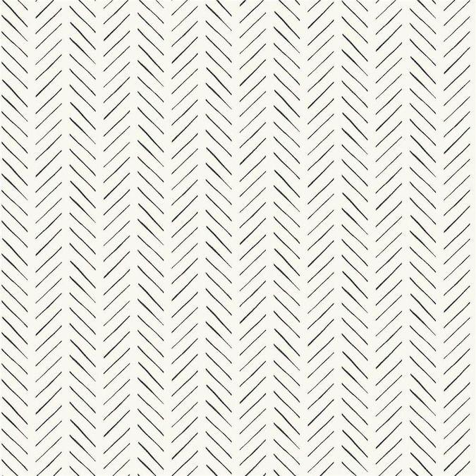 York Wallcoverings Magnolia Home Artful Prints And Patterns 56 Sq Ft Black Paper Stripes Prepasted Soak And Hang Wallpaper Lowes Com Herringbone Wallpaper Pattern Wallpaper Magnolia Homes