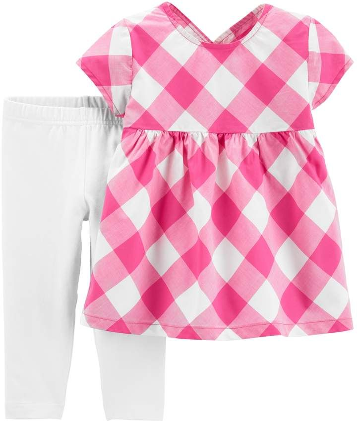 2a7acfe67aa01 Carter's Toddler Girl Gingham Top & Leggings Set in 2019   Products ...