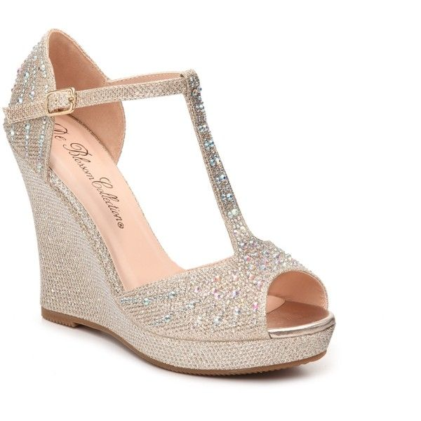 Bridal Shoes Dsw: DeBlossom Alina-7 Wedge Sandal