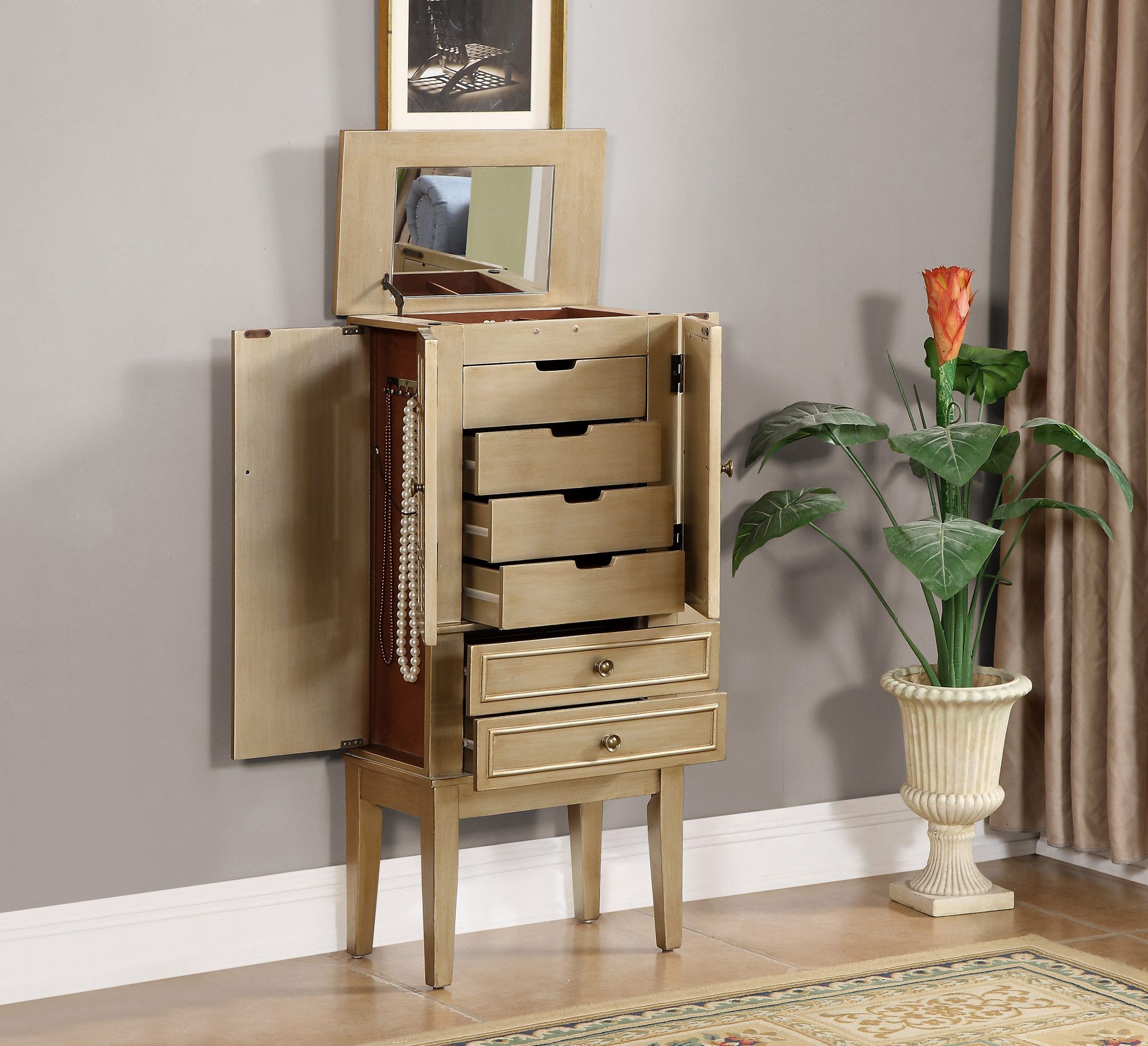 Central Coast Kitchens And Wardrobes Home: Jewelry Armoire In Gold
