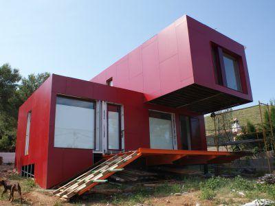 Contiene Una Casa Vivienda Hecha Con Contenedores Arkitektura - Casas-en-contenedores-marinos