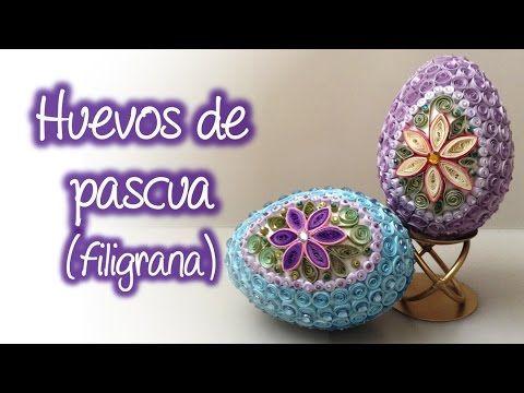 Pintaideas huevo de pascua de filigrana quilling easter for Decoracion de pascua