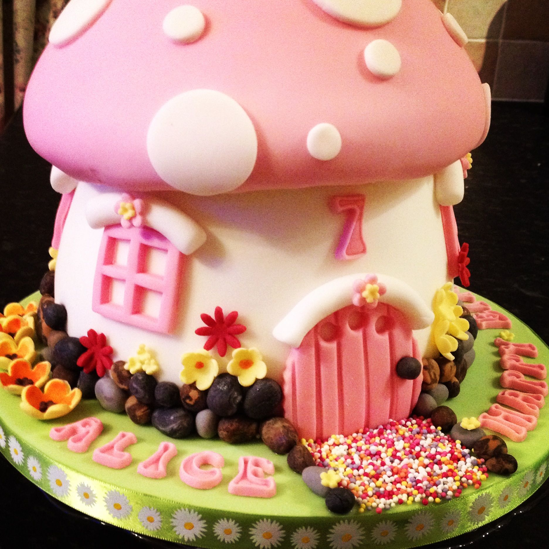 Fairy Birthday Party Decorations Fairy Garden Party This Is A Giant Fairy Toadstool Cake Made Of