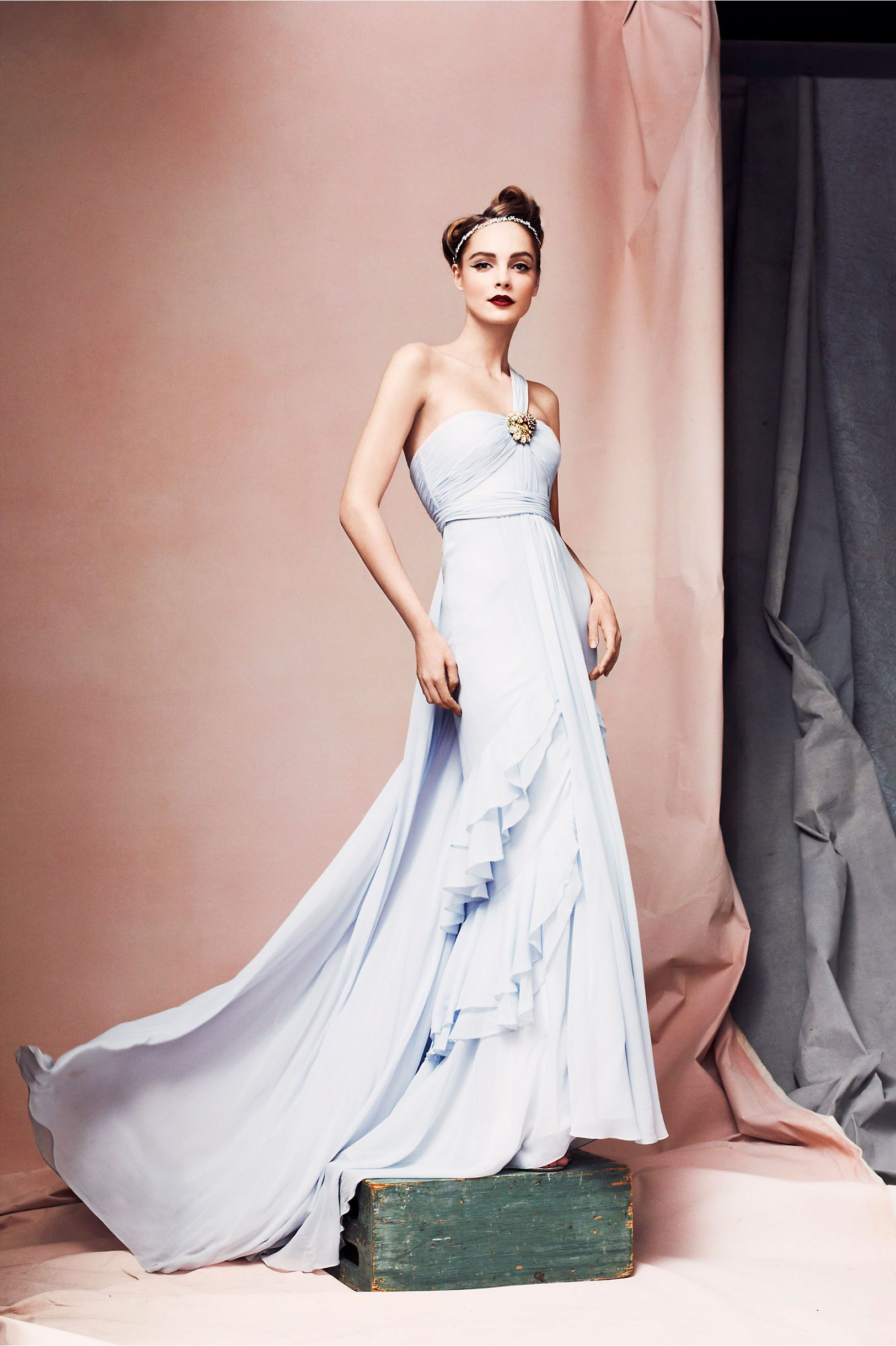 Crashing waves gown all dressed up pinterest baby blue wedding