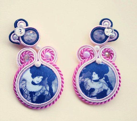 soutache earrings. Traduzione earrings entirely by CauliSflowers